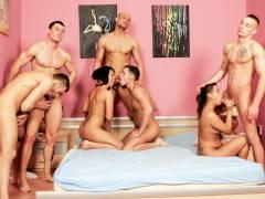 Forbidden Bisexual Orgy, Scene #01
